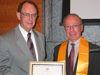 Eta Kappa Nu Engineering Honor Society Awards USC President Steven B. Sample Eminent Member Status